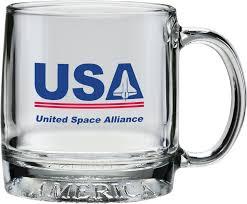 12 oz mug america glass coffee mug