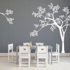 Nursery White Tree Decal Nursery Wall Decals Tree Wall Etsy