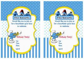 Smurfs Birthday Invitations Pitufos Decoracion De Eventos Fiesta