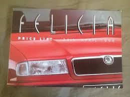 1998 Skoda Felicia UK Market Price List Color Brochure Catalog PROSPEKT |  eBay