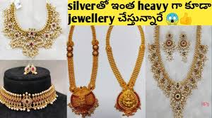 silver jewellery with gold polish with