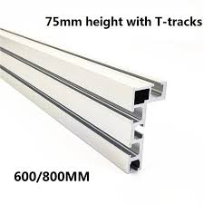 Mega Discount 3b65 T Track T Slot Miter Track Stop Woodworking T Tracks Aluminum Table Saw Fence Workbench Diy Woodworking Tools 600 800mm 75 Type Cicig Co