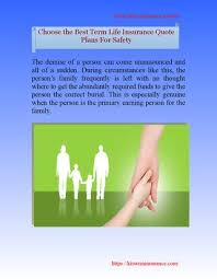 choose the best term life insurance quote plans for safety by