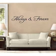 Amazon Com 58 Always And Forever Wall Decal Sticker Bedroom Love Home Anniversary Wedding Together Husband Wife Marriage Vows Home Kitchen