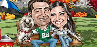 1 custom caricature from photos