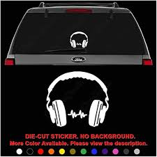 Amazon Com Dj Headphones Music Die Cut Vinyl Decal Sticker For Car Truck Motorcycle Vehicle Window Bumper Wall Decor Laptop Helmet Size 12 Inch 30 Cm Wide Color Gloss Black