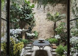 120 small courtyard garden with seating