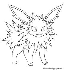 Pokemon Coloring Pages Jolteon At Getdrawings Free Download