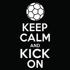Amazon Com Soccer Keep Calm And Kick On Vinyl Decal Sticker Cars Trucks Vans Windows Laptops Walls Cups White 5 5 X 2 5 Inches Kcd1859 Automotive