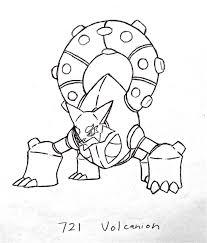 Kleurplaat Volcanion Pokemon