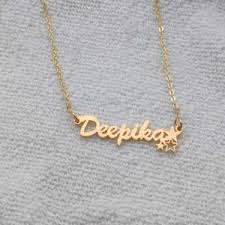 18k gold plated customised name pendant