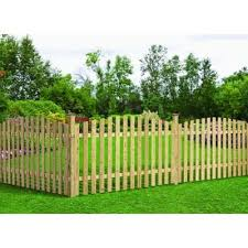 4 Ft H X 8 Ft W Pressure Treated Pine Spaced Arched Top Fence Panel 130702 The Home Depot Wood Picket Fence Fence Panels Outdoor Decor Backyard
