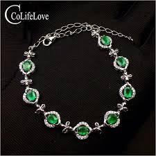 fashion emerald bracelet for evening