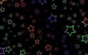 تحميل خلفيات النجوم الملونة الإبداعية خلفية سوداء عريضة