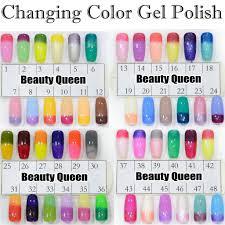 fast changing gel color chameleon nail