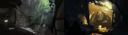 dual monitor screen portal game