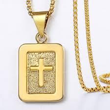 womens mens cross pendant necklaces