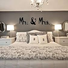 Amazon Com Mr And Mrs Wall Decal Vinyl Sticker Artwork For Newly Married Couple Handmade