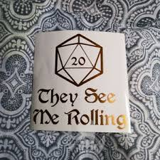 D D Dungeons Dragon Rolling 5 5 Vinyl Decal Sticker Auto Gaming Dnd Rpg Die D20 Ebay