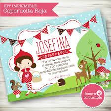 Kit Imprimible Personalizado Caperucita Roja Ideal Para Primer Ano Y Cumpleanos Invitacion Digital Arma Tu Caperucita Roja Caperusita Roja Fiesta De Picnic