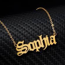 necklace old english customized