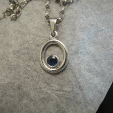 solid handmade 9ct white gold pendant