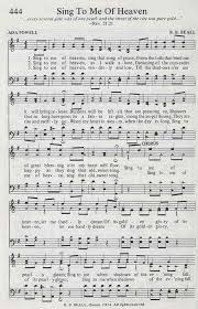 Sing to me of heaven, sing that song of peace | Hymnary.org