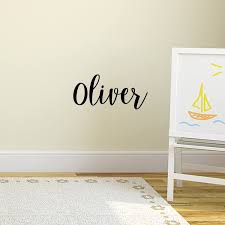 Amazon Com Vinyl Wall Art Decal Boys Name Oliver Text Name 12 X 30 Little Boys Bedroom Vinyl Wall Decals Cute Wall Art Decals For Baby Boy Nursery Room