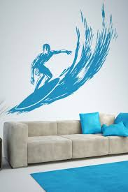 Surfer On Wave Wall Decal Mural Lg 32 Colors 6 Sizes Walltat Com