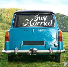 Just Married Wedding Decals Vinyl Lettering For Cars Limos Walls Graphicsmesh