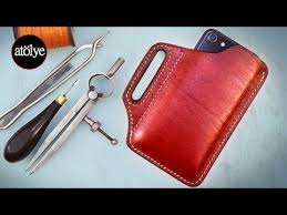 how to make a leather phone case