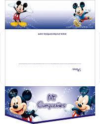 Invitaciones De Mickey Mouse Gratis Para Imprimir Invitacion Feliz