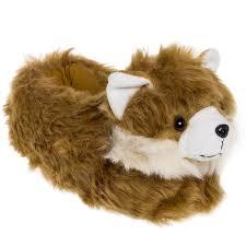 slippers plush pomeranian dog