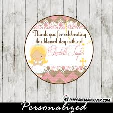 lace first communion favor tags