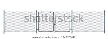 Realistic Metal Wire Fence Gate Detailed Stock Vector Royalty Free 1247326612