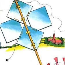 homemade kite with newspaper