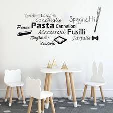 Pasta Wall Decal Italian Kitchen Sticker Decorations Italy Graphics Decor Wall Art Design Maccaroni Penne Fusilli Murals C173 Wall Stickers Aliexpress
