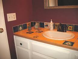 mexican tile vanity top accents and