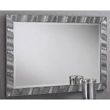 karadi silver rectangular wall mirror