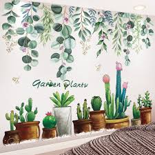 Shijuehez Garden Plant Wall Stickers Diy Tree Leaves Mural Decals For House Living Room Bedroom Decoration Home Decor Sticker Wall Stickers Aliexpress