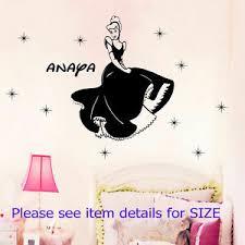Disney Princess Cinderella Personalized Name Wall Stickers Kids Vinyl Wall Decal Ebay