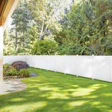 Outdoor Essentials Northport 6 Ft H X 6 Ft W White Vinyl Flat Top Fence Panel In The Vinyl Fence Panels Department At Lowes Com