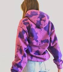 Purple and pink bleach tie dyed sweatshirt/hoodie | Etsy