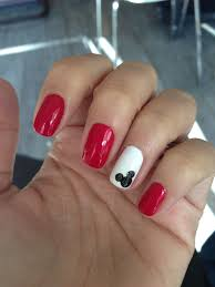 Mickey Mouse nails - nice and simple | Mickey nails, Mickey mouse ...