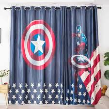 Ins Modern American Cartoon Blackout Curtains For Kids Room 3d Printed Curtain For Boys Bedroom Window Treatment Bedroom Curtains Aliexpress