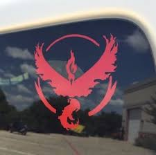 Pokemon Go Red Team Valor Window Decal Tablet Phone Case
