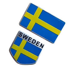 Sweden Flag Car Sticker Emblem Decal Badge For The Car Whole Body Scratch Aluminum Cover Sticker Wish