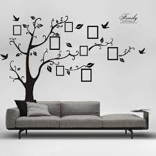 Removable Room Decor Family Photo Frame Black Tree Wall Sticker Wall Decal Wish