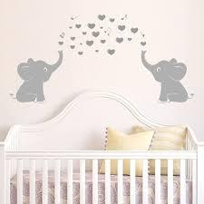Two Elephants Bubbles Art Wall Decal Vinyl Wall Sticker Wall Baby Nursery Wall Decor Grey Amazon Com