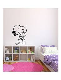 Amazon Com Snoopy Inspired Vinyl Wall Decal Sticker Graphic Handmade